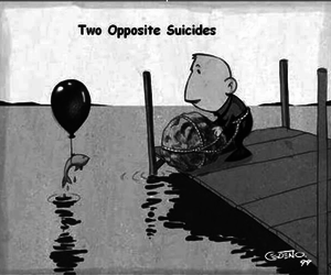 suicide, death, and fish image