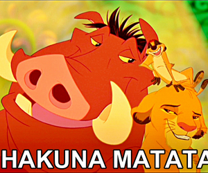 hakuna matata, simba, and the lion king image