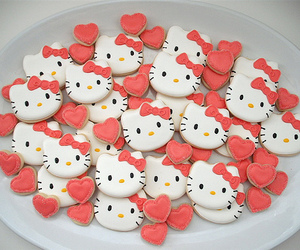 hello kitty, Cookies, and sweet image