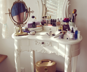 makeup, mirror, and make up image
