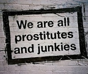 junkies, prostitutes, and wall image
