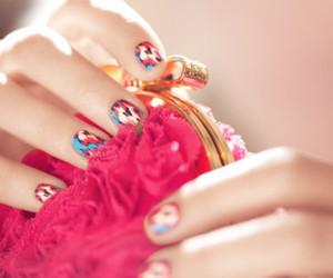 nails, pink, and bag image