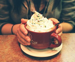 food, coffee, and cup image