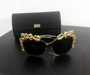 sunglasses, style, and gold image
