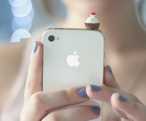 iphone, cupcake, and apple image