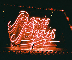 paris, light, and neon image