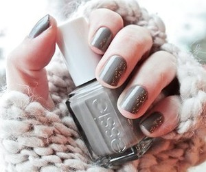 nails, essie, and grey image