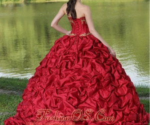 ball gown, dress, and fashion image
