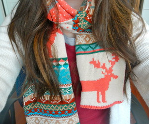 fashion, scarf, and cute image