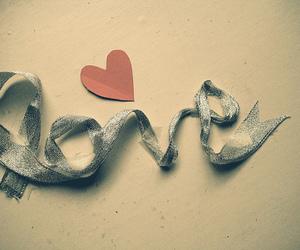 love, heart, and ribbon image