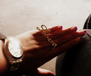 love, nails, and watch image