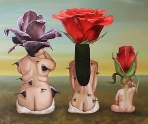 art, rose, and surrealism image
