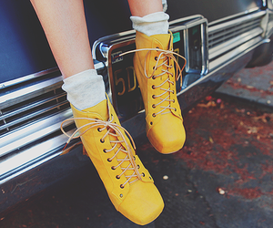 shoes, yellow, and photography image