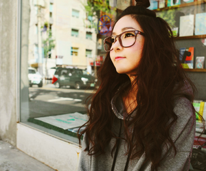 glasses, asian, and girl image