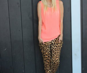 animal print, fashion, and converse sneakers image