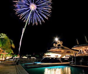 fireworks and boat image