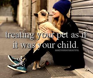 pet, girl, and dog image