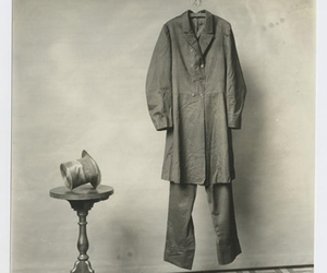black and white, table, and clothes image