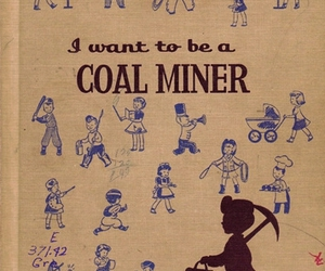 childrens book, coal miner, and library book image