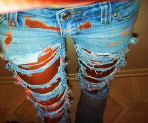 jeans, legs, and rip image