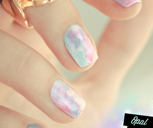 blue, lilac, and nails image