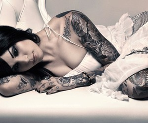 beauty, kat von d, and Tattoos image