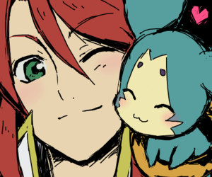 LUke, tales of the abyss, and mieu image