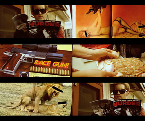 gun, lion, and mikey way image