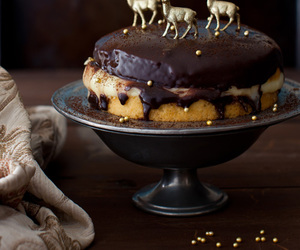 cake, pie, and deer image