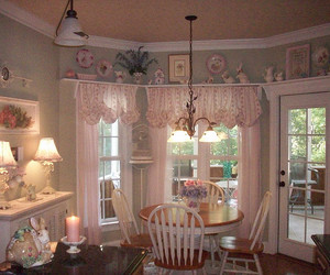 kitchen, pink, and shabby chic image