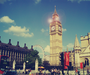 london, Big Ben, and england image