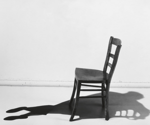 chair, shadow, and black and white image
