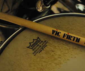 drum, drumsticks, and music image