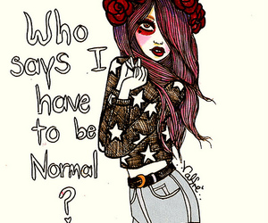 girl, normal, and drawing image