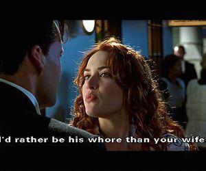 titanic, quotes, and whore image