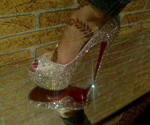 glitter, shoes, and high heels image