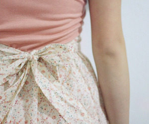 pink, bow, and floral image
