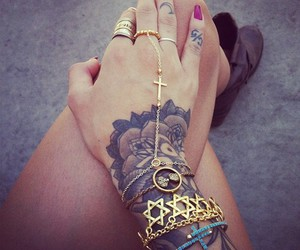 tattoo, nails, and hand image