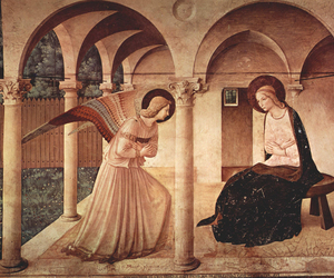 original, annunciation, and fra angelico image