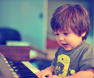cute, boy, and piano image