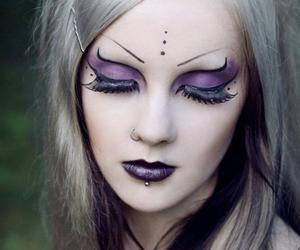makeup, goth, and gothic image
