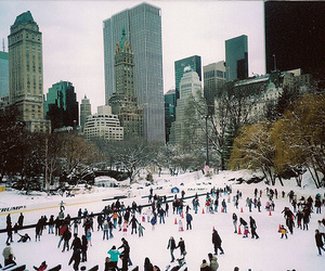 snow, winter, and new york image
