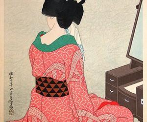geisha, japan, and red image