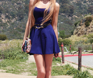 blue, love, and dress image