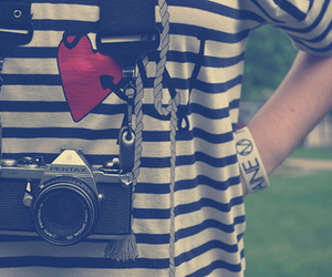 camera, photography, and heart image