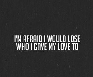 black and white, break up, and Lyrics image