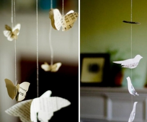 bird, butterfly, and Paper image