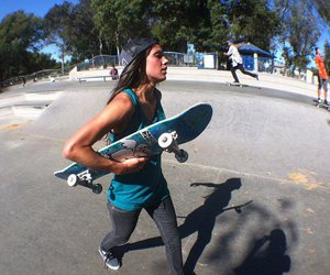 girl, skate, and style image