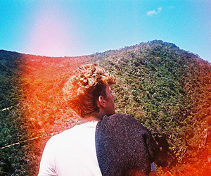 hair, back, and guy image