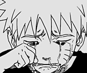 naruto, sad, and crying image